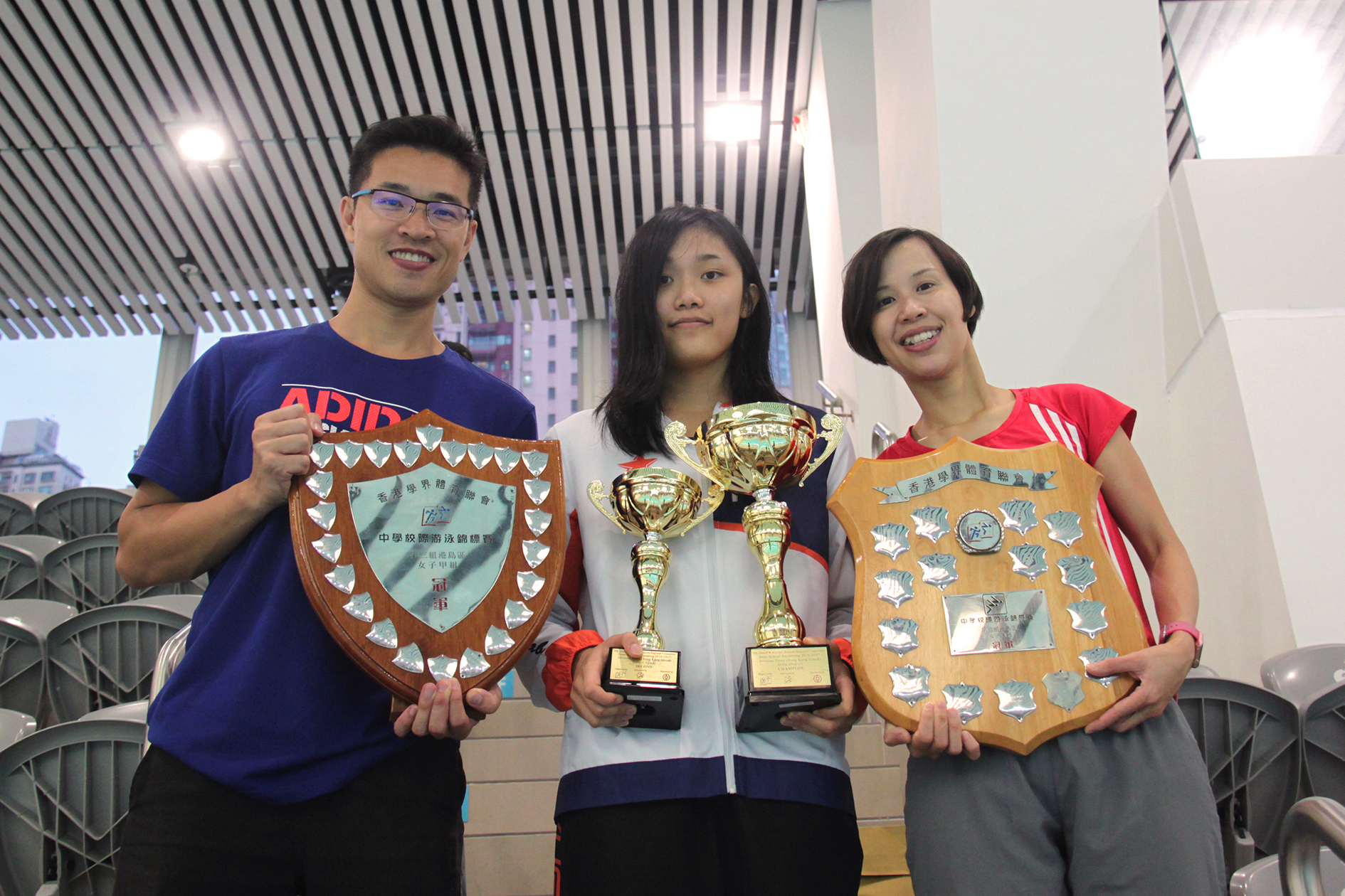 From the left: Mr. Louis Au, Ms. Isabel Lau and Ms. Esther Li.